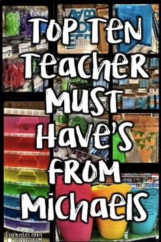 Top Ten Teacher Must-Haves from Michaels Michaels has an endless amount of things teachers can use to stay organized - check out my top ten list with examples of how to use them! Teacher Supplies, Classroom Supplies, Teacher Tools, Teacher Resources, Classroom Ideas, Teacher Hacks, Classroom Design, Teacher Binder, Teacher Stuff