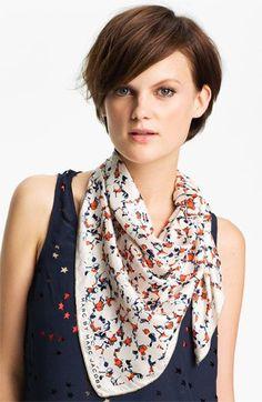 Elegant way to wear a scarf