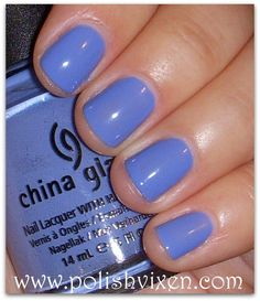 China Glaze Secret Periwinkle. My new favorite for spring/summer.