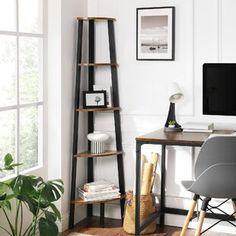 Williston Forge | Wayfair.ca Corner Bookshelves, Small Bookshelf, Bookcase Storage, Ladder Bookcase, Storage Rack, Bookcases, Ladder Storage, Etagere Bookcase, Apartments