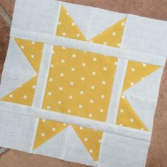"I went through several pages on Lily's Quilts and never found this pattern. I think I can figure it out though...star pattern with 1/2"" - 1"" inner sashing. Depends on how large you want the block."