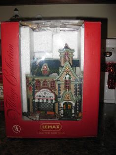new vintage lemax christmas village collection lighted hampton grocery in box