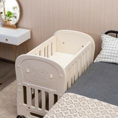 Parents can easily convert this baby crib into a toddler bed, daybed, baby Playard, or rocking crib by adjusting the height of the bed frame and casters. The edge of our baby play bed is very smooth, which can effectively prevent the baby or parents from being scratched. And the gap on the baffle around the bed is designed so that the baby's feet will not be stuck. In addition, the 360° silent universal wheels help you move the baby crib quietly and easily, but also protect the floor surface…