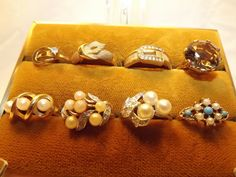 Vintage Collection of Avon Rings for Dealers Resale, or 8 Costume Jewelry Rings for Your Vintage Jewelry Collection