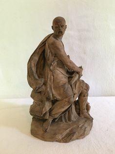 Figura maschile in terracotta, Francesco Ladatte,  XVIII secolo.