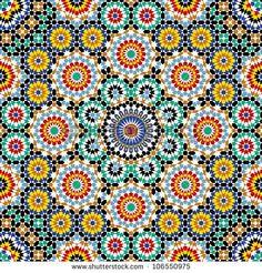 Razil Morocco Pattern - stock vector