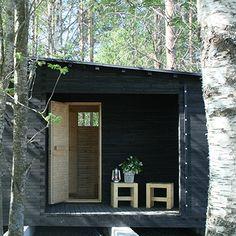 I'd like this kind of sauna. Well, *any* kind of sauna, actually. :) Luona-pihasaunat | Louna - http://saunapihalle.fi/