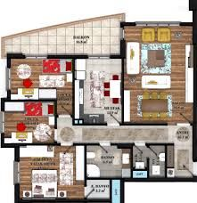 Hasil gambar untuk katta 4 daire planı