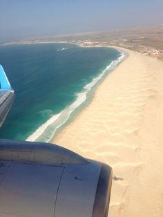 Flying over beach at Boa Vista, Cape Verde