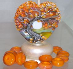 Can't imagine the amount of time it takes to make a lampwork glass bead like this.
