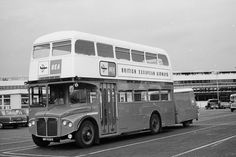 BEA made good use for many years of the front entrance version of the Routemaster+luggage trailer for its passenger transport services to and from Heathrow. London Transport, Mode Of Transport, Rt Bus, British European Airways, Routemaster, London Clubs, Double Decker Bus, Bus Coach, Transportation