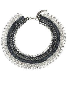 Dove Grey Twinkle Necklace   Venessa Arizaga   Avenue32