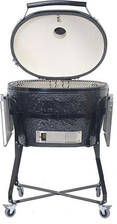 The shape of the Primo Oval XL Charcoal Grill adds a new level of versatility to the Kamado Grill. Capable of true indirect grilling as well as improved smoking. Charcoal Smoker, Best Charcoal Grill, Best Kamado Grill, Ceramic Smoker, Custom Bbq Pits, Best Gas Grills, Grill Table, Grillin And Chillin, Smoke Grill