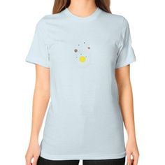 Solar System Unisex T-Shirt (on woman)