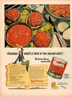 1953 Hunt's Tomato Sauce Magazine Original Food and Drink Print Ad - TnTCollectibles