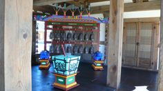 Korean traditional musical instrument, used in the official ceremory. At the birth place of the first king of Chosun Dinasty, Jeonju, South Korea.  경기전, 전주. 조선 태조를 모신 곳