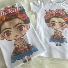 Frida Kahlo mini baby, available for Adult, girls, Babys.
