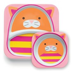 SET DE PRATOS ZOO GATO - SKIP HOP