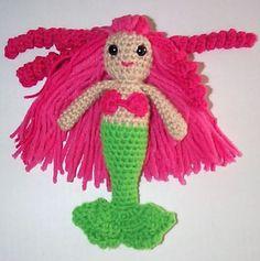 Crocheted Mermaid Doll w/ link to free pattern - CROCHET