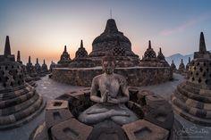 In Balance - Borobudur, the biggest Buddhist temple in the world. Java, Indonesia. © Joel Santos - www.joelsantos.net