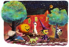 Ghouls Night Out - Print. $25.00, via Etsy.