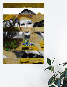 Discover «Klimt's The Kiss & Rita Hayworth with Glenn Ford», Exclusive Edition Canvas Print by Luigi Tarini - From $59 - Curioos