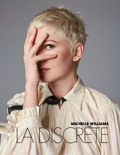 Actress Michelle Williams wears Louis Vuitton blouse