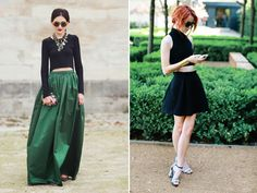 Not really crazy about crop tops, but I love the look on the left. ;)