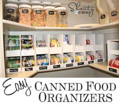 Pantry Ideas – DIY Canned Food Storage - 60+ Innovative Kitchen Organization and Storage DIY Projects
