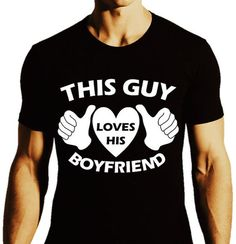 GAY Shirt  This Guy Loves His Boyfriend Gay Pride by ALLGayTees