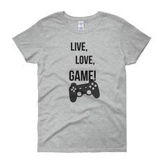 WOMEN'S FIT LIVE, LOVE, GAME TEE - Thumbnail 1