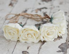Rose Felt Flower Crown / Ready-To-Ship Handmade by LeaphBoutique