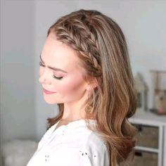 Side Braid Hairstyles, Easy Hairstyles For Medium Hair, Braids For Short Hair, Hairstyle For Women, Hairstyles For Short Hair Formal, Hairstyles For Nurses, Hairstyles For Short Hair Easy, Hairstyles For Medium Length Hair Easy, School Hairstyles For Teens