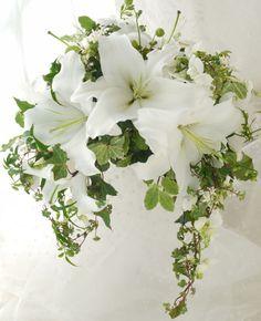 ブーケ クレッセント ユリ : 一会 ウエディングの花