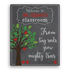 This personalized canvas makes a wonderful gift for that special teacher.