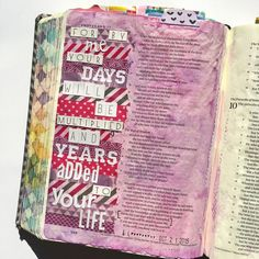 Bible journaling, Proverbs 9:11 — Arden Ratcliff-Mann #illustratedfaith
