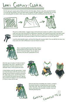 Loki cosplay guide: Cape by SirLadySketch on deviantART