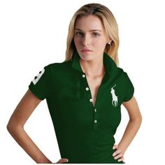 Ralph Lauren Classic White Big Pony Green Breathable Short Sleev   http://2015pololove.tumblr.com/