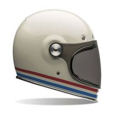 CAPACETE BULLITT STRIPES PEARL WHITE - LCS Motorparts