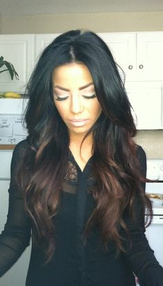 Black and deep chestnut bayalage 10 warm brown balayge pics                                                                                                                                                                                 More