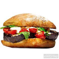 Melty Eggplant-Mozz Burger