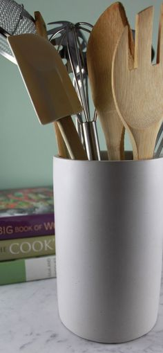 culinarium | white concrete utensil holder