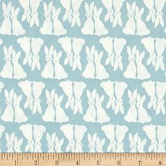 Kaufman Pacific Bunnies Fog from @fabricdotcom  Designed by Elizabeth Hartman for Robert Kaufman, this cotton fabric is perfect for quilting, apparel and home décor accents. Colors include light blue and white.