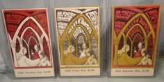 1967 PINK FLOYD Janis Joplin Vintage CONCERT TICKET Set of 3 Tickets Bill Graham