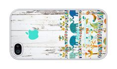 Africa on Wood Pattern Rubber iPhone 4 and iPhone 4S case