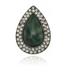 Bohemian Bardot Ring - Jade/Crystal