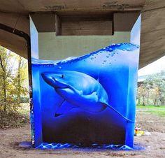 A Street Art do belga Bart Smeets em extraordinários desenhos de parede. - Cultura   ChiadoNews