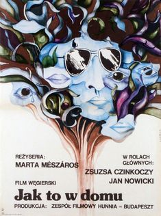 Just Like at Home Olyan mint otthon Original Polish Movie Poster film, Hungary director: Marta Meszaros actors: Zsuzsa Czinkoczy, Jan Nowicki Polish Movie Posters, Film Posters, Olay, Movies, Films, Film Poster, Cinema, Movie, Movie Posters