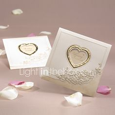 Shipping free Customizable and printable Gold Classic Luxury Folded Wedding Invitation With Heart Cutout Wedding Crafts, Wedding Favors, Wedding Decorations, Wedding Wear, Wedding Events, Tri Fold Wedding Invitations, Valentines Day Weddings, Window Cards, Photo Heart