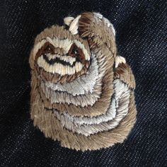Embroidery sloth :)
